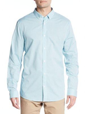 Michael Kors Cottons Cotton Gingham Sport Shirt