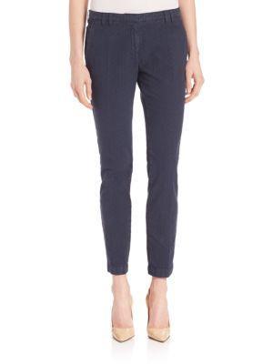 Eleventy Cottons Ostrich-Print Pants