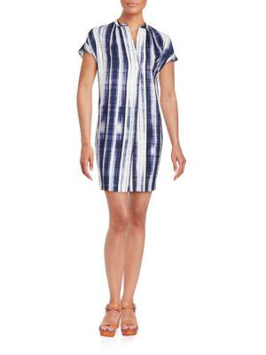 VINCE Dresses Brush Stroke Shift Dress