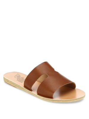 Apteros Cutout Leather Slides