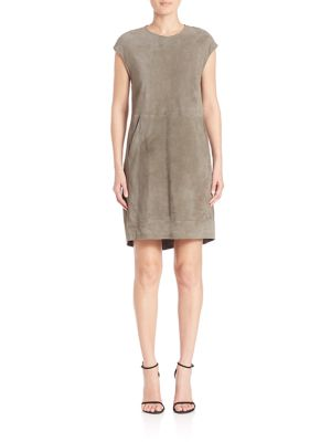 Eleventy Dresses Suede Shift Dress