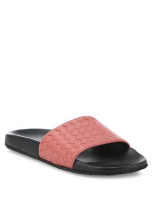 Bottega Veneta Leathers Intrecciato Leather Speedster Slides