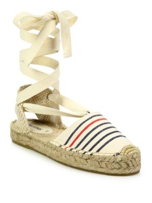 Soludos Canvases Striped Lace-Up Espadrilles