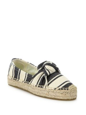 Soludos Canvases Knotted Striped Platform Espadrilles