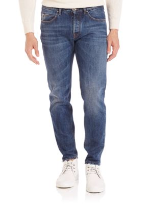 Eleventy Cottons Distressed Selvedge Jeans