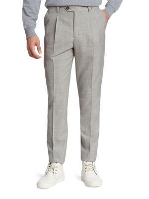 Brunello Cucinelli  Slim-Fit Wool Pants