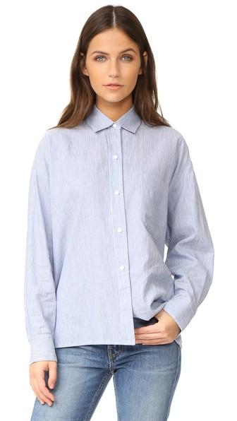 Vince Cottons Long Sleeve Crop Shirt