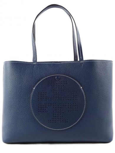 'Perforated Logo' leather tote
