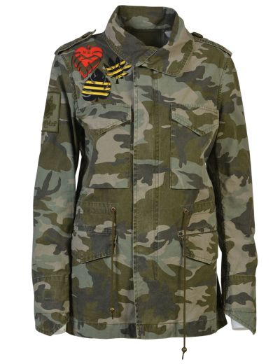 CAMOUFLAGE COTTON CANVAS FIELD JACKET