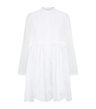 Chloé Cottons Pineapple Broderie Anglaise Dress