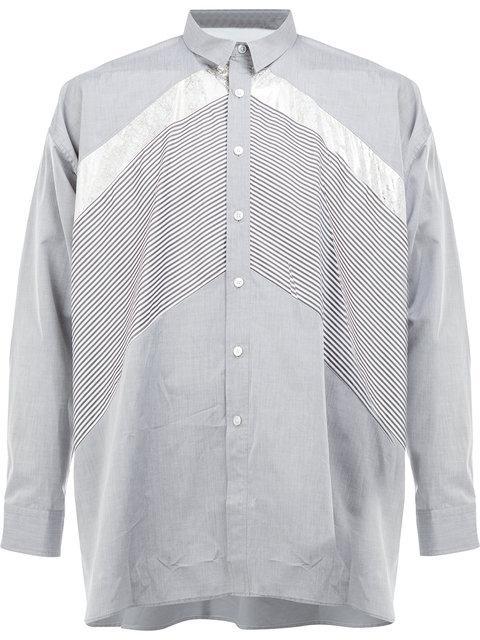 08SIRCUS Contrast Panel Shirt