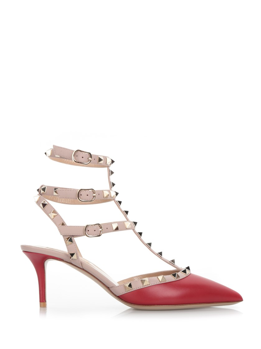 'Rockstud' red pumps