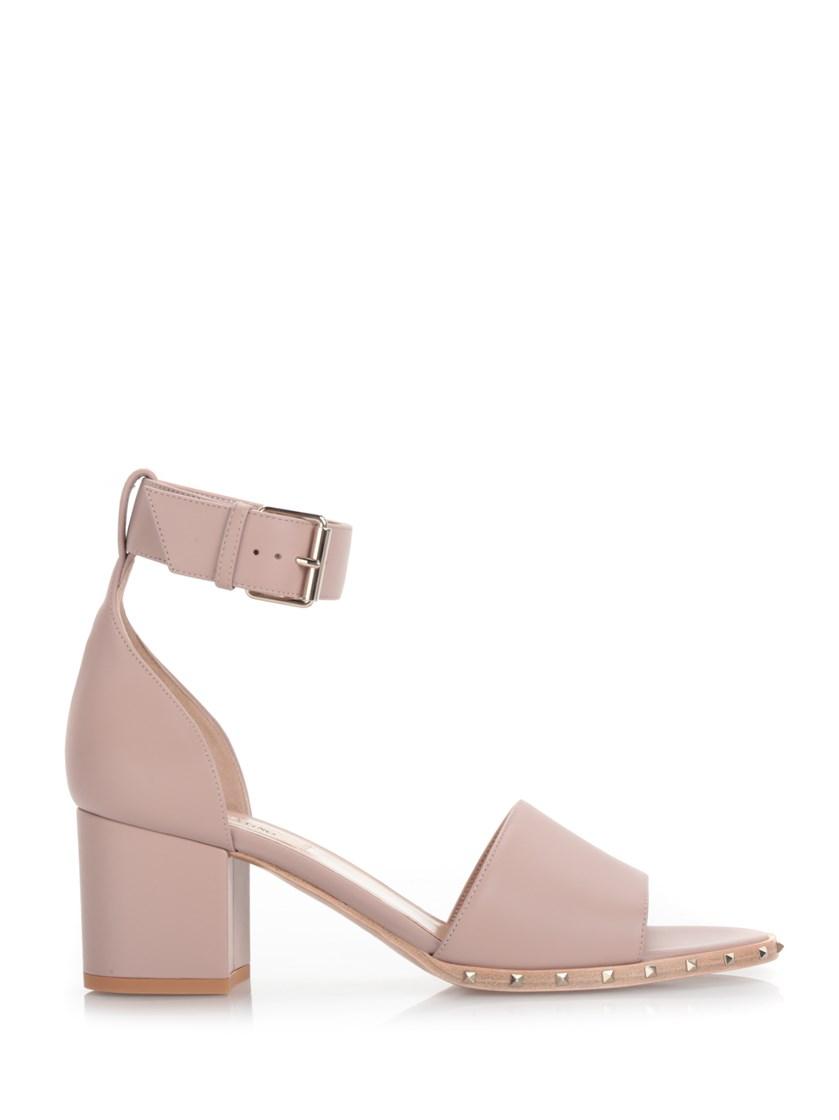 Valentino Leathers 'Soul Rockstud' pink sandal