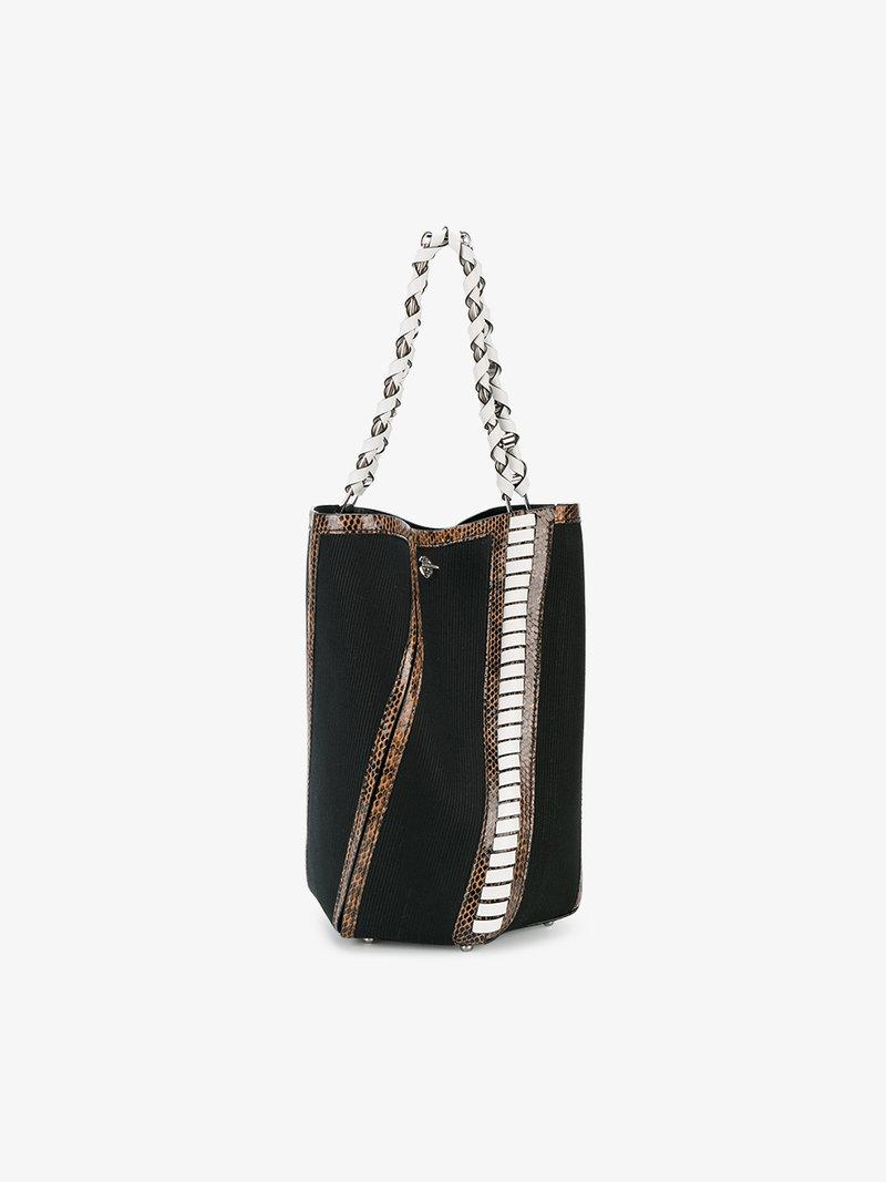 Proenza Schouler Leathers MEDIUM HEX BUCKET BAG