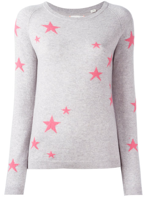 SLOUCHY STAR CASHMERE SWEATER