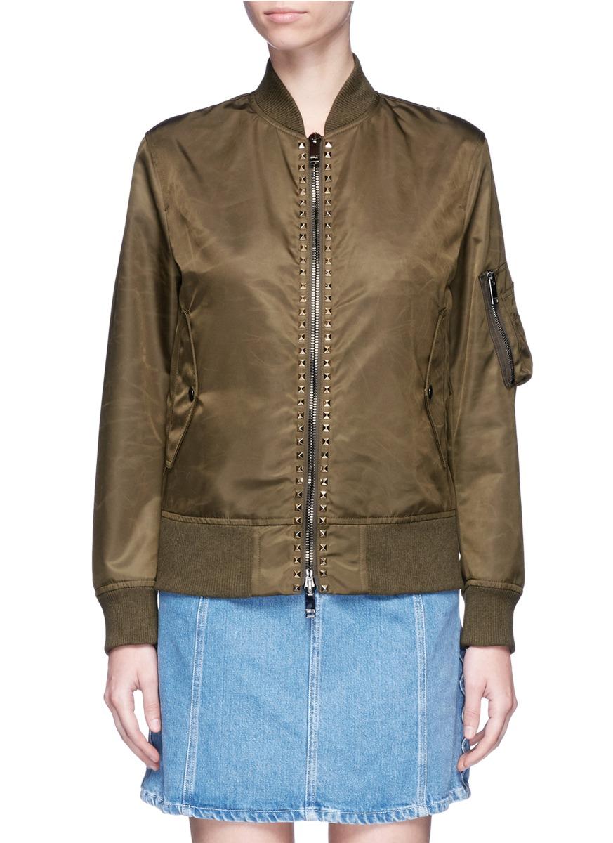 Valentino Cottons 'Rockstud Untitled 15' bomber jacket