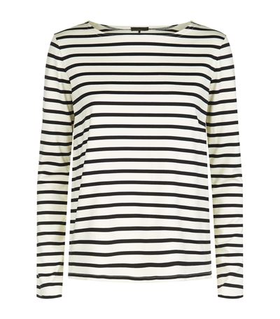 The Row Cottons Moris Striped Long Sleeve Top