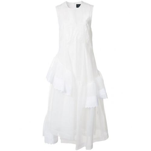 SHEER PANEL ASYMMETRIC DRESS