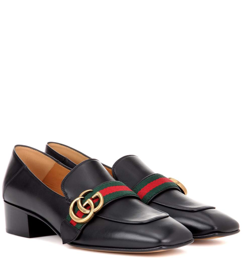 GG WEB LOW-HEEL LOAFER PUMPS