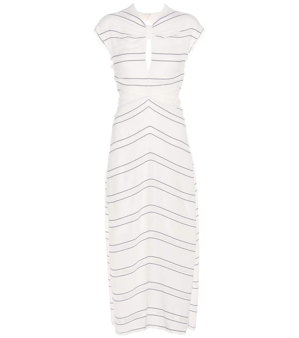 Proenza Schouler Silks Striped dress