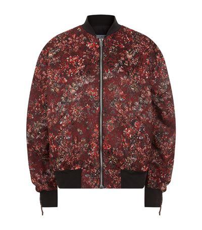 IRO Floral Print Bomber Jacket