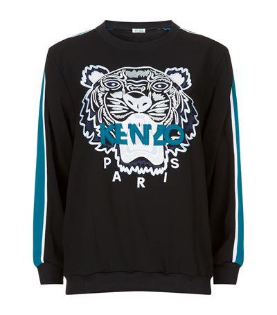 Embroidered Tiger Icon Track Sweatshirt