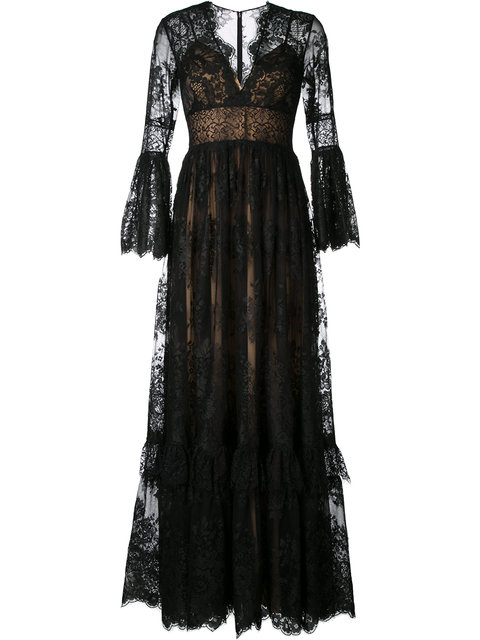 lace flared gown