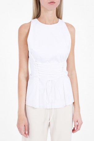 The Row Cottons Tallo Lace Waist Top