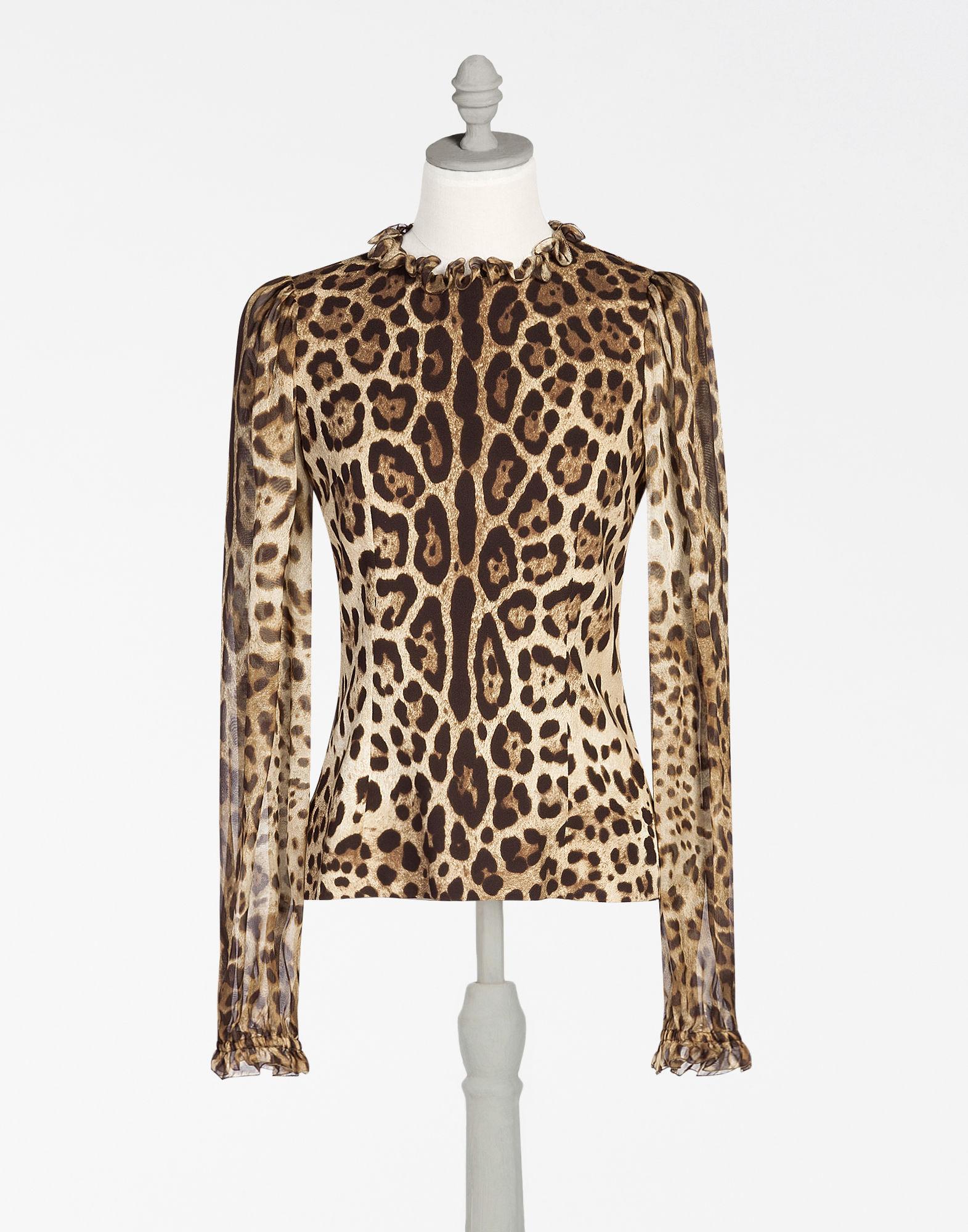 Dolce & Gabbana Silks PRINTED CADY BLOUSE
