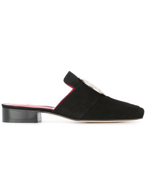 Black Suede Petrol Slip-On Loafers