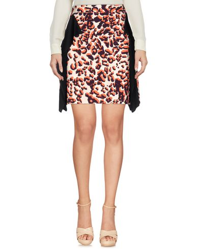 MSGM KNEE LENGTH SKIRT, BLACK