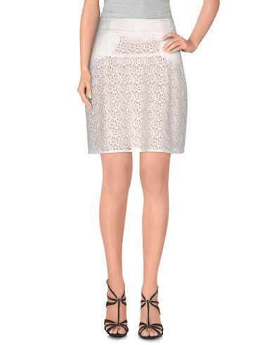 Julien David Knee Length Skirt, White