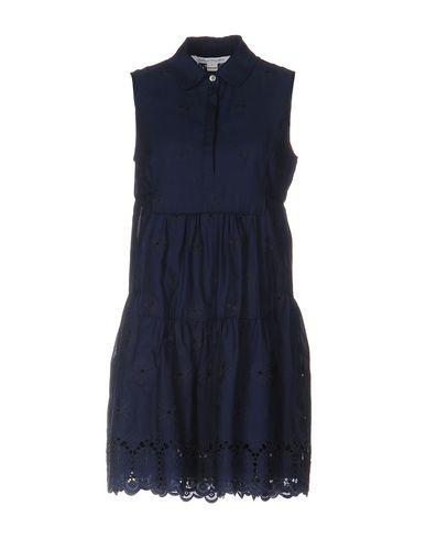 DIANE VON FURSTENBERG SHIRT DRESS, DARK BLUE