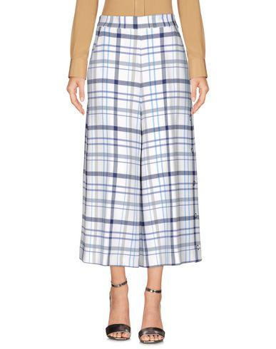 Msgm Cropped Pants & Culottes, White