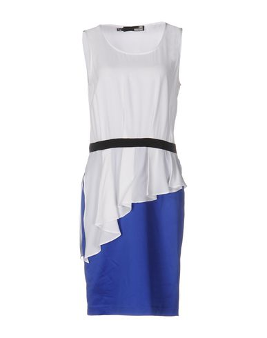 LOVE MOSCHINO KNEE-LENGTH DRESS, BLUE