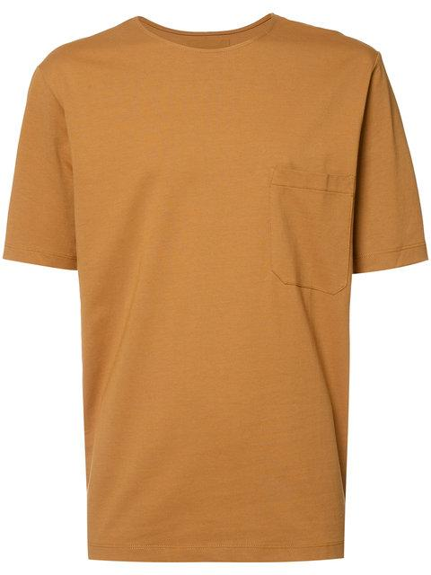 LEMAIRE LEMAIRE CHEST POCKET T-SHIRT - BROWN