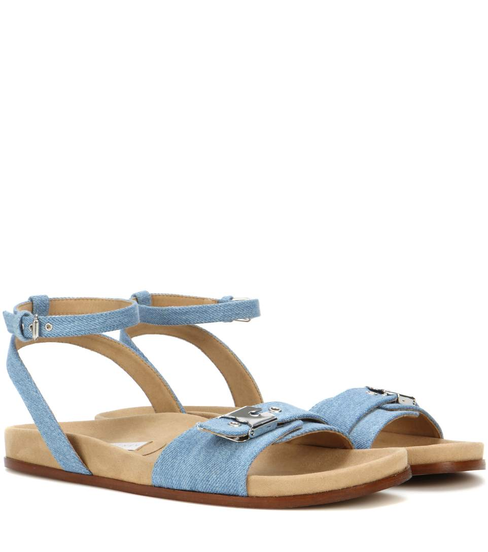 denim Linda sandals