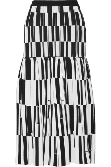 Proenza Schouler Pleated skirts Pleated jacquard-knit skirt