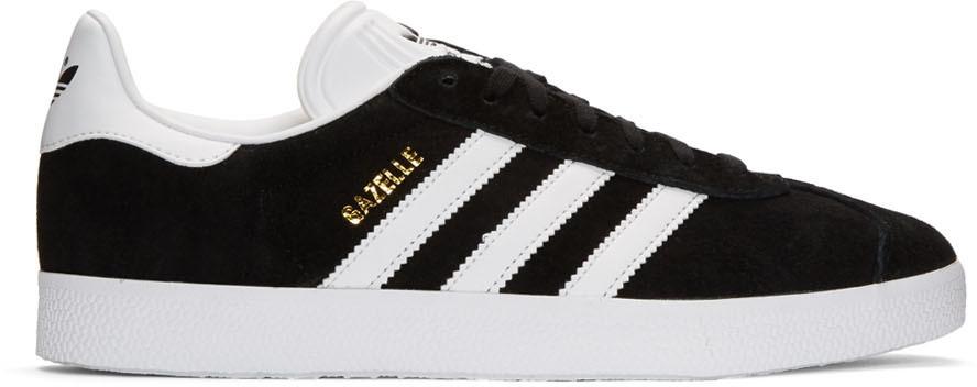 Adidas Originals Leathers Black Suede Gazelle Sneakers