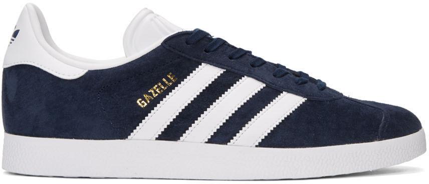 Adidas Originals Leathers NAVY GAZELLE SNEAKERS