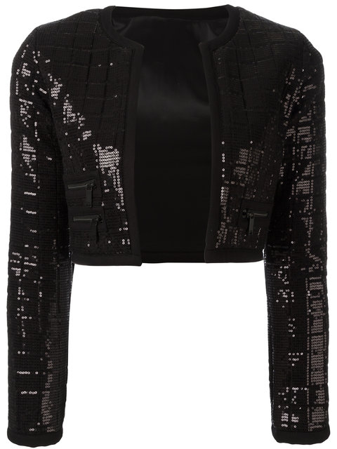 KARL LAGERFELD SEQUINNED CROPPED JACKET