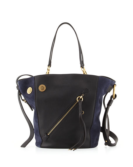 Chloé Leathers MYER MEDIUM LEATHER & SUEDE TOTE BAG