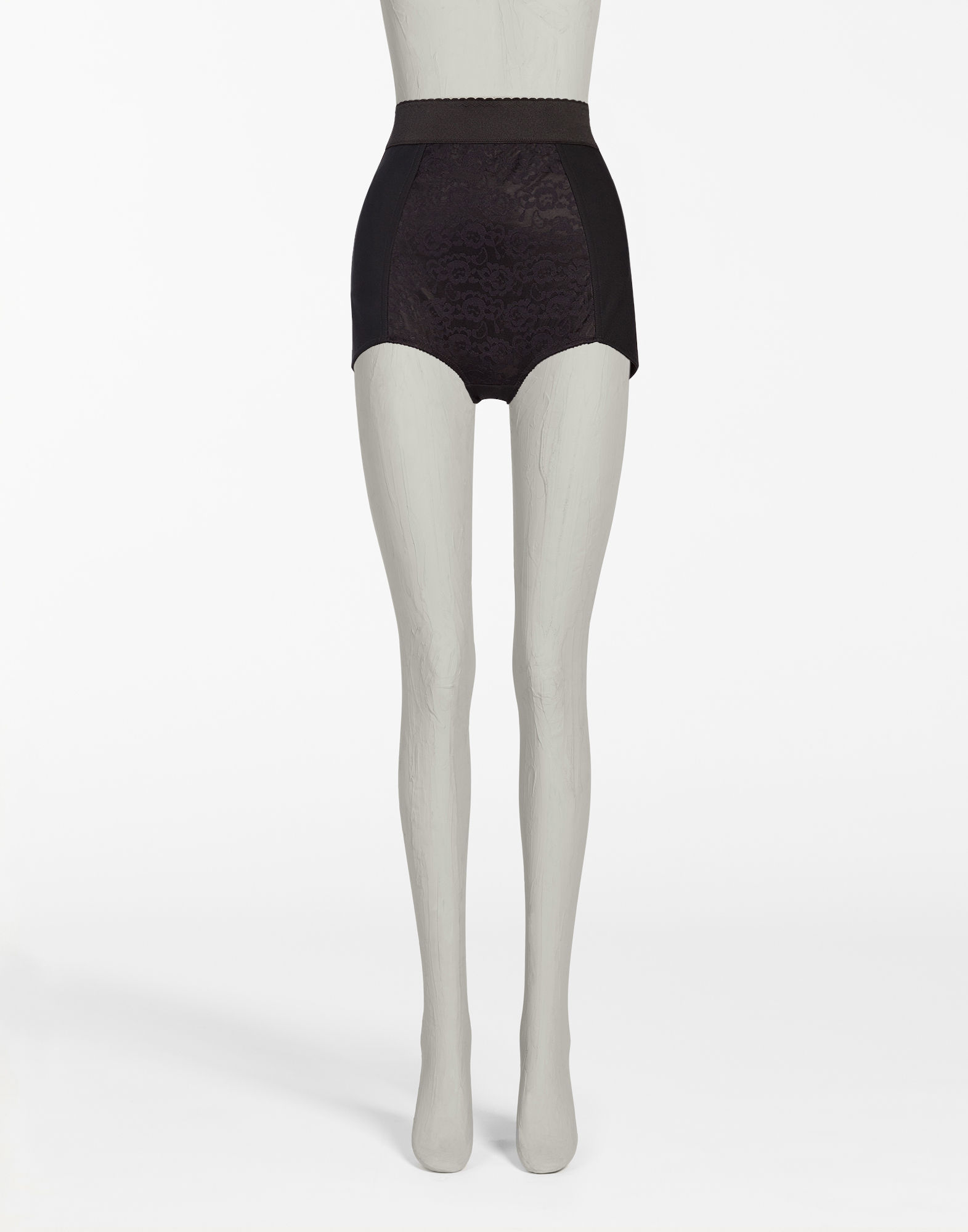 Dolce & Gabbana Shaper Panties With Lace Details, Black