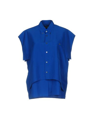 GOLDEN GOOSE SOLID COLOR SHIRTS & BLOUSES, BLUE