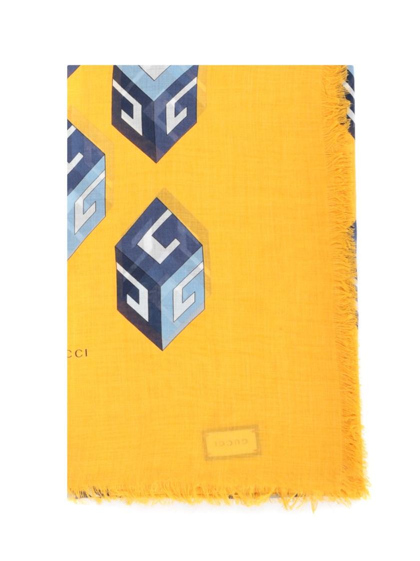 'GG Wallpaper' yellow scarf