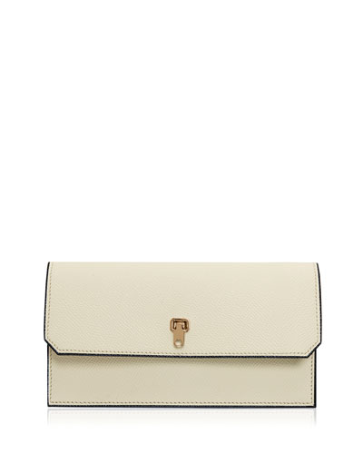 Valextra Wallets LEATHER FLAP-TOP WALLET