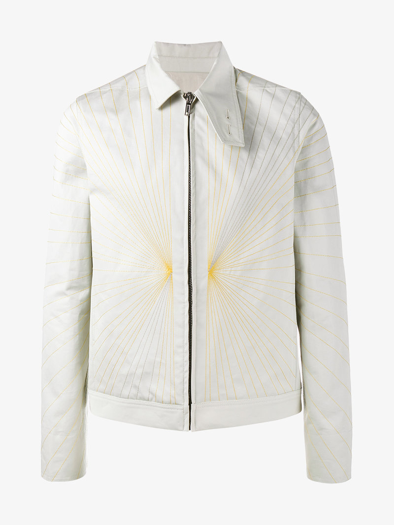 RICK OWENS Embroidered Brother Jacket - Nude & Neutrals, Nude&Neutrals