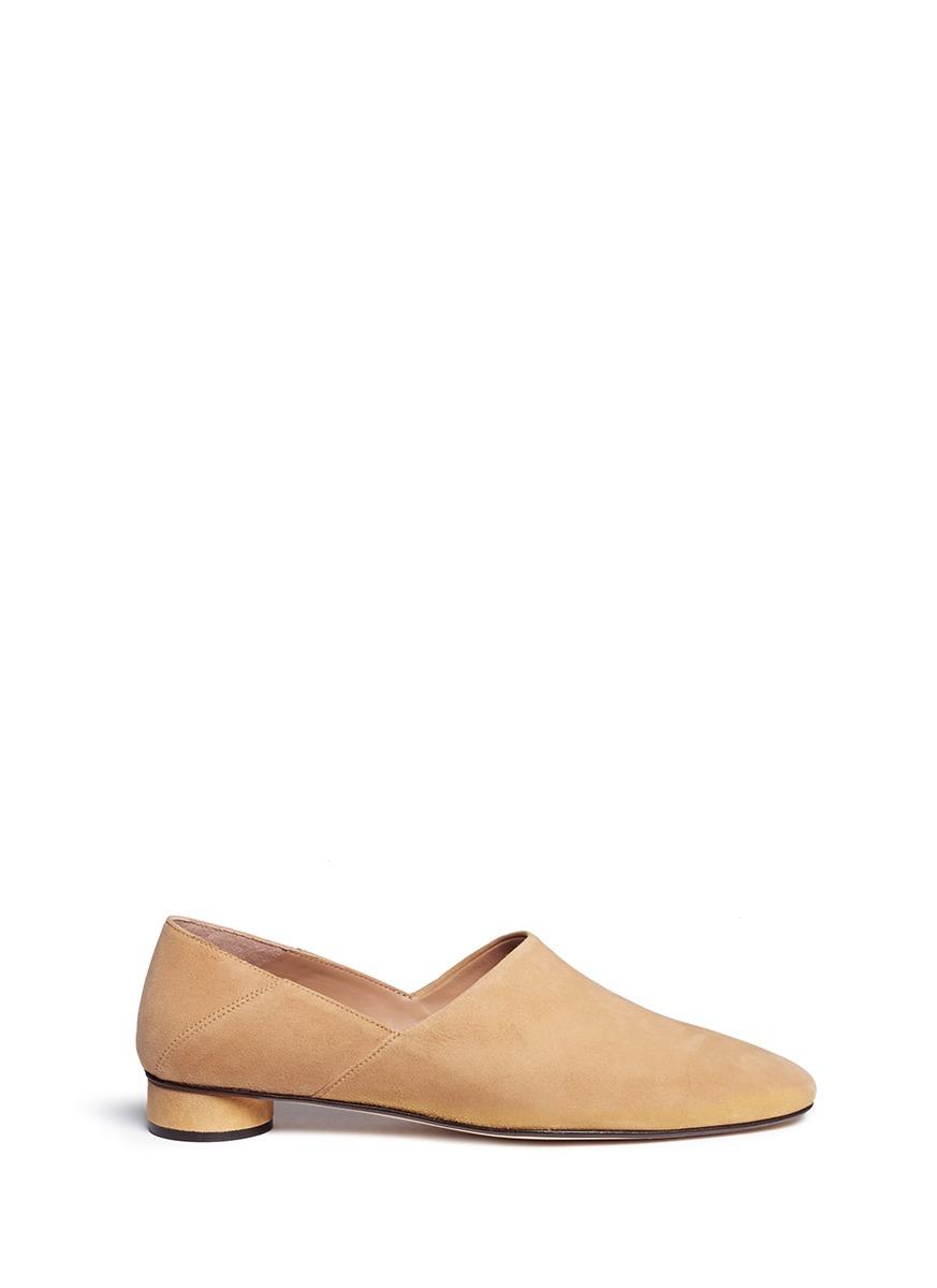 The Row Suedes 'Noelle' step-in heel suede slip-ons