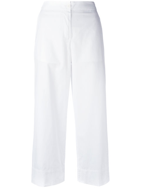 I'M ISOLA MARRAS CROPPED TROUSERS, WHITE