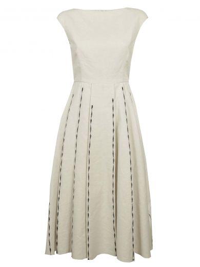 Bottega Veneta Linens Bottega Veneta Embroidered Dress